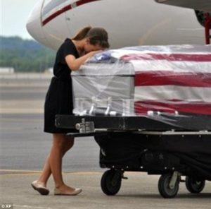 Wife Grieving Fallen Soldier-min