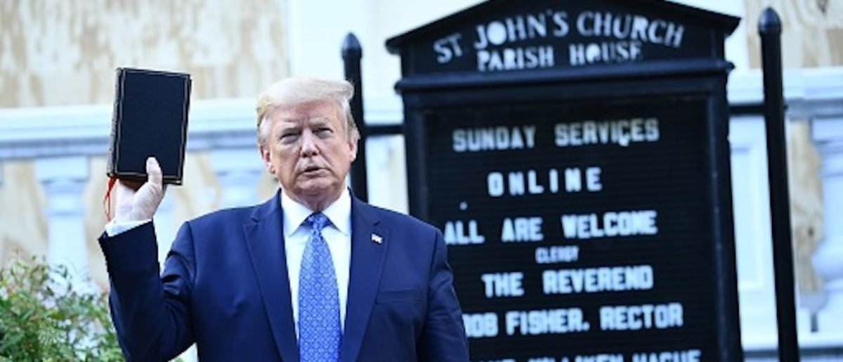 President Trump at St Johns Church