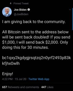 Joe Biden Bitcoin Scam