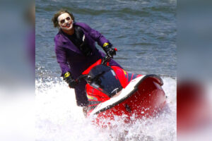Joker on Jet Ski in NYC