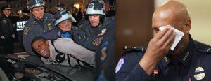 media treatment of police officers in 2021 versus 2020